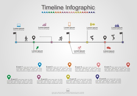 Infographics timeline element layout. Vector Vector