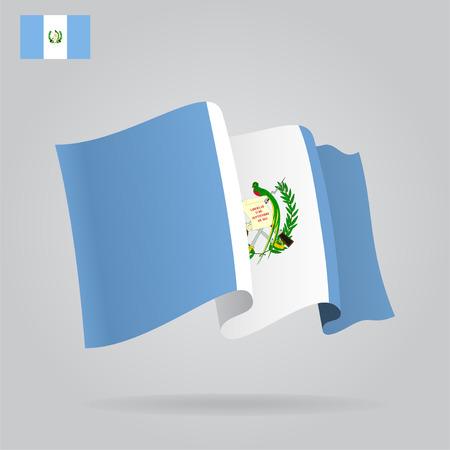 bandera de guatemala: Planas y agitar la bandera de Guatemala. Vector