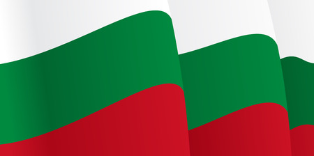 Background with waving Bulgarian Flag. Vector Illustration