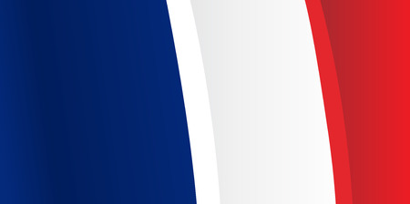 french culture: Background with waving French Flag. Vector