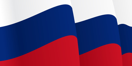 russian flag: Background with waving Russian Flag. Vector