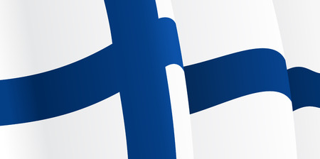 suomi: Background with waving Finnish Flag. Vector