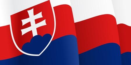slovak: Background with waving Slovak Flag. Vector