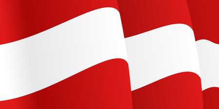 austria flag: Background with waving Austria Flag. Vector