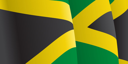 jamaican flag: Background with waving Jamaican Flag. Vector