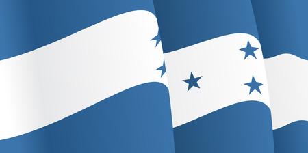 bandera honduras: Fondo con la bandera ondeando Honduras. Vector Vectores