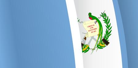 guatemala: Background with waving Guatemala Flag. Vector