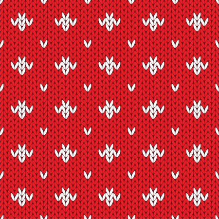 Knitted pattern seamless background. Vector Vector