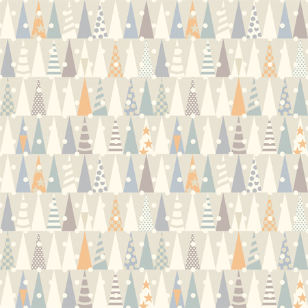 Seamless pattern with Christmas trees.  Vector Vector