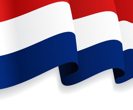 dutch flag: Background with waving Dutch Flag. Vector