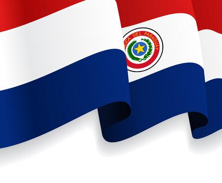 paraguayan: Background with waving Paraguayan Flag. Vector