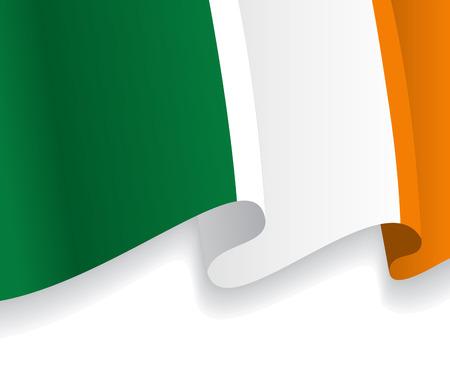 irish pride: Background with waving Irish Flag. Vector