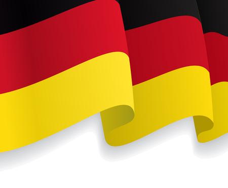 german flag: Background with waving German Flag. Vector
