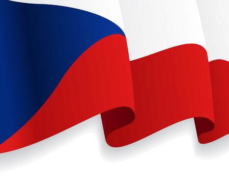 czech flag: Sfondo con agitando Bandiera della Repubblica Ceca. Vettore
