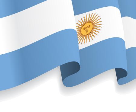 argentine: Background with waving Argentine Flag. Vector