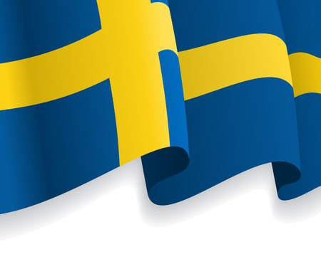 the swedish flag: Background with waving Swedish Flag. Vector