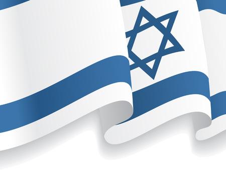 israeli flag: Background with waving Israeli Flag. Vector Illustration