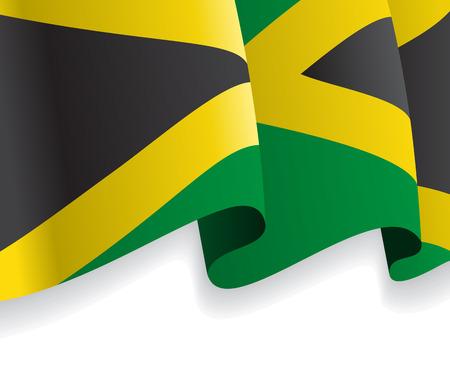 jamaican: Fondo con la bandera ondeando de Jamaica. Vector