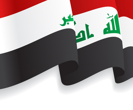 iraq flag: Background with waving Iraq Flag. Vector