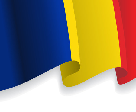 romanian: Background with waving Romanian Flag. Vector