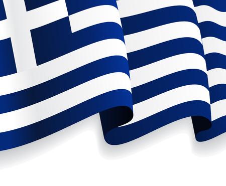 Hintergrund mit winkte Griechische Flagge. Vektor Vektorgrafik