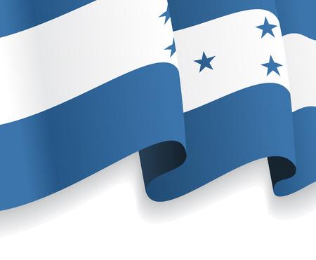 bandera de honduras: Fondo con la bandera ondeando Honduras. Vector Vectores