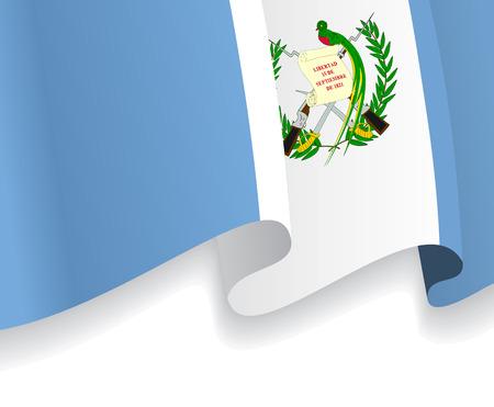 bandera de guatemala: Fondo con la bandera ondeando Guatemala. Vector Vectores