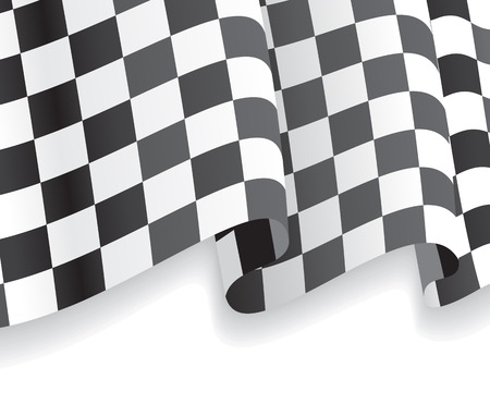 Background with waving racing Flag. Vector illustration Иллюстрация