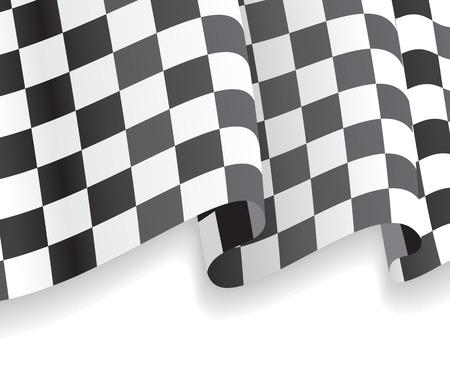 Background with waving racing Flag. Vector illustration Illustration