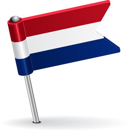 Dutch pin icon flag. Vector illustration Eps 8. Illustration