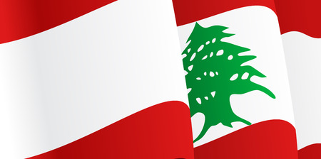 Background with waving Lebanese Flag. Vector illustration Eps 8. Vector