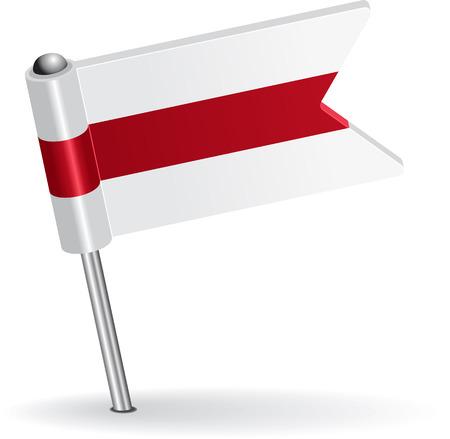 pinning: Belarus pin icon flag. Vector illustration  Illustration