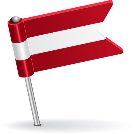 Austrian pin icon flag. Vector illustration Eps 8. Illustration