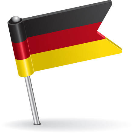 eps icon: Germany pin icon flag. Vector illustration Eps 8.
