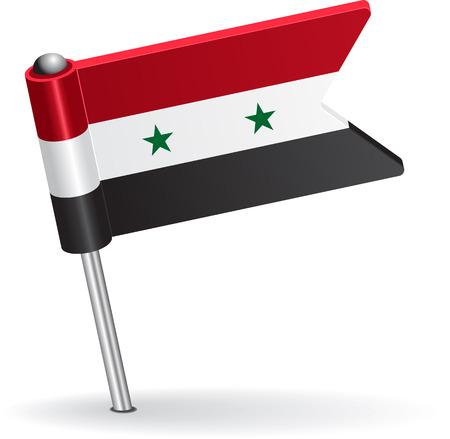 prick: Syria pin icon flag. Vector illustration Eps 8. Illustration