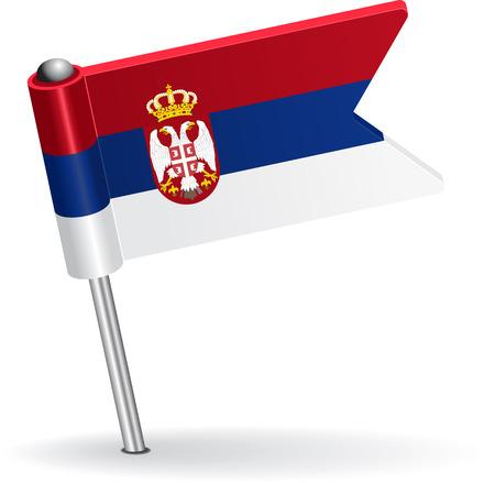 pinning: Serbian pin icon flag. Vector illustration Eps 8. Illustration
