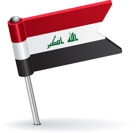 prick: Iraqi pin icon flag. Vector illustration Eps 8.