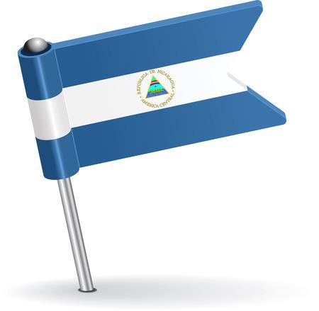 pinning: Nicaraguan pin icon flag. Vector illustration Eps 8.