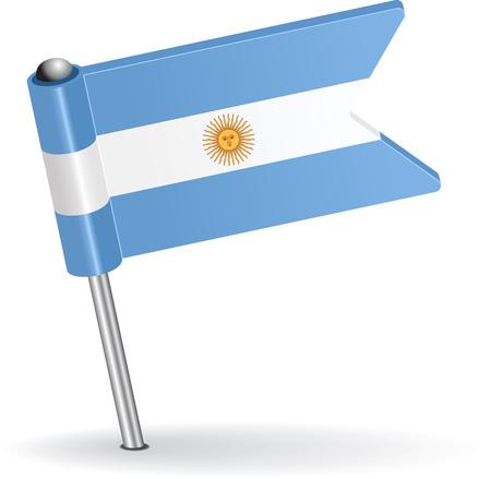 pinning: Argentine pin icon flag. Vector illustration Eps 8. Illustration