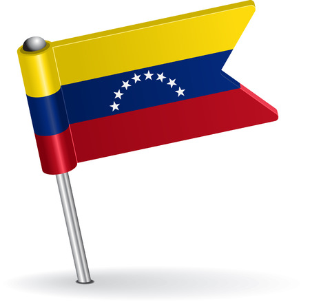 venezuelan: Venezuelan pin icon flag. Vector illustration Eps 8.