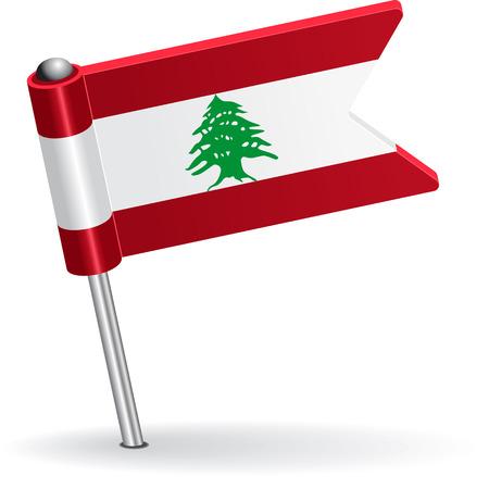 prick: Lebanese pin icon flag. Vector illustration Eps 8. Illustration