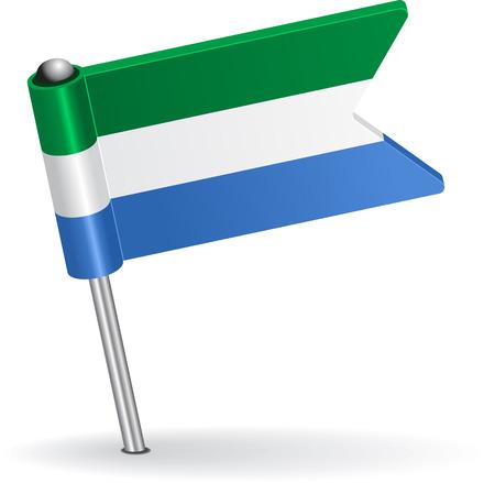 prick: Sierra Leone pin icon flag. Vector illustration Eps 8.