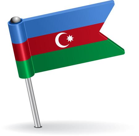 prick: Azerbaijan pin icon flag. Vector illustration Eps 8. Illustration