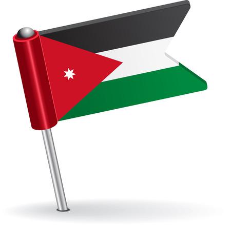 prick: Jordan pin icon flag. Vector illustration Eps 8.