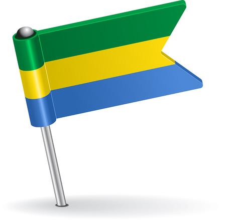 pinning: Gabon pin icon flag. Vector illustration Eps 8.
