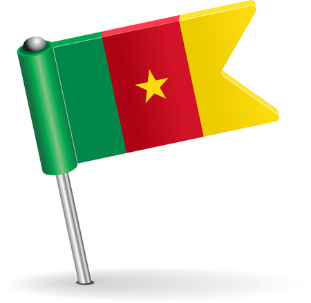 Cameroon pin icon flag. Vector illustration Eps 8.