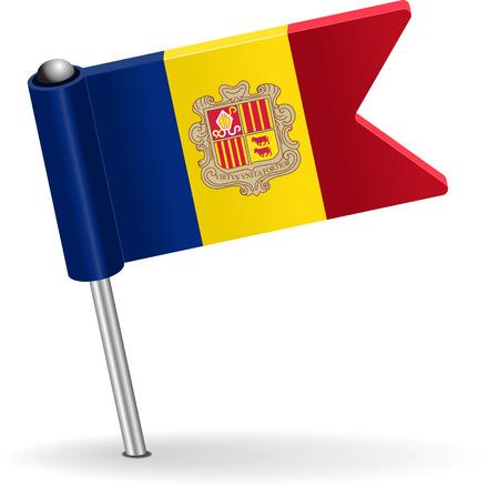 prick: Moldova pin icon flag. Vector illustration