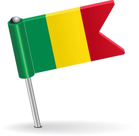 Mali pin icon flag. Vector illustration