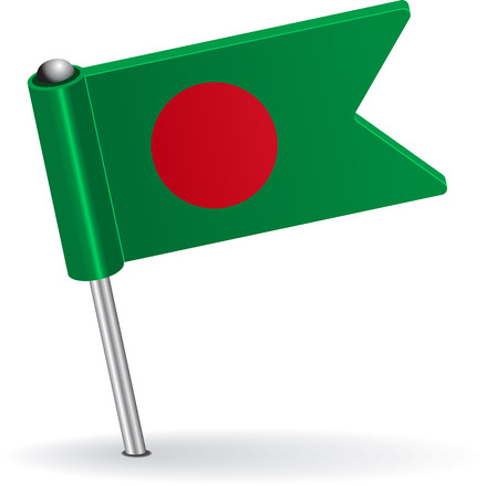 Bangladesh pin icon flag. Vector illustration