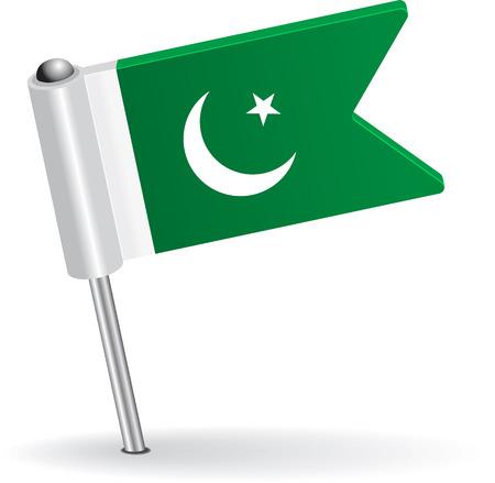 pakistani: Pakistani pin icon flag. Vector illustration